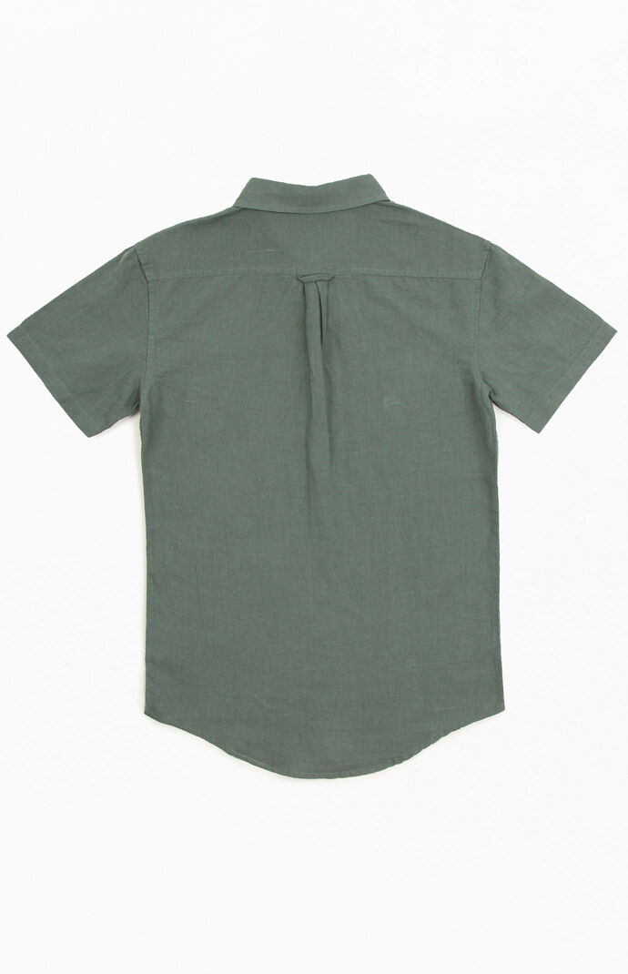Linen Cuba Short Sleeve Button Up Shirt