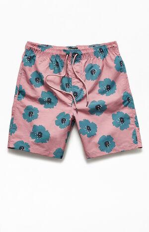 "Rose 18"" Floral Swim Shorts image number null"