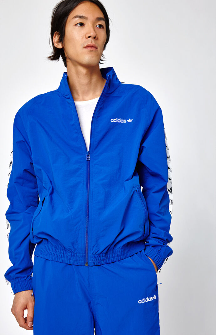 adidas TNT Tape Wind Blue & White Track Jacket - Blue/white 7144983