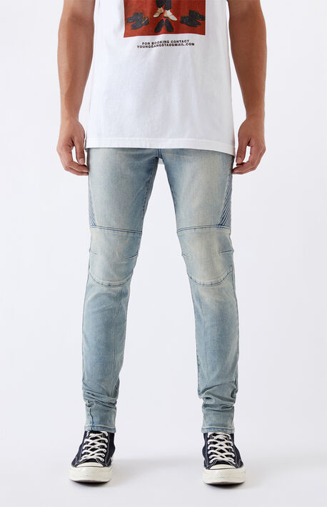 Medium Biker Stacked Skinny Jeans