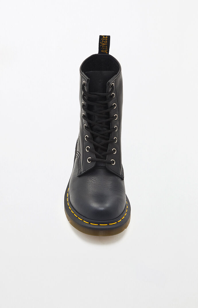 Women's Black Nappa Leather Boots