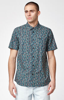 Top Poppy Short Sleeve Button Up Shirt