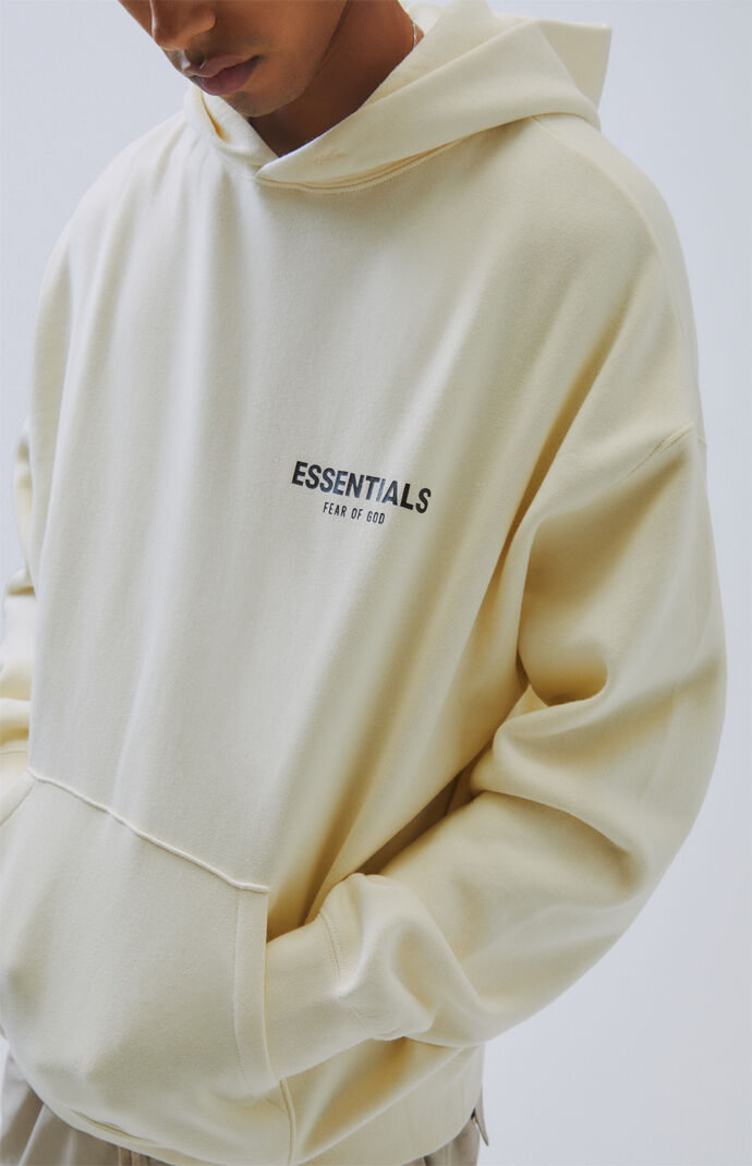 Fog Fear Of God Essentials Cream Logo Pullover Hoodie Pacsun