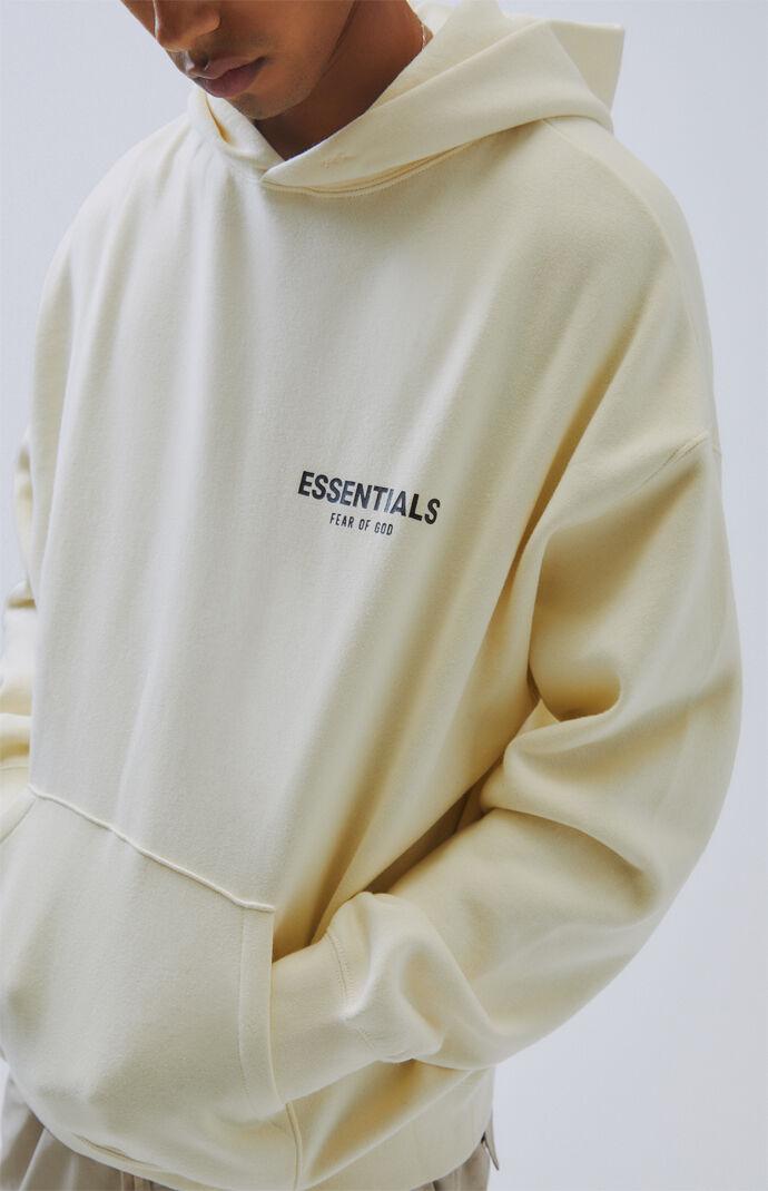 Fog Fear Of God Essentials Cream Logo Pullover Hoodie Pacsun