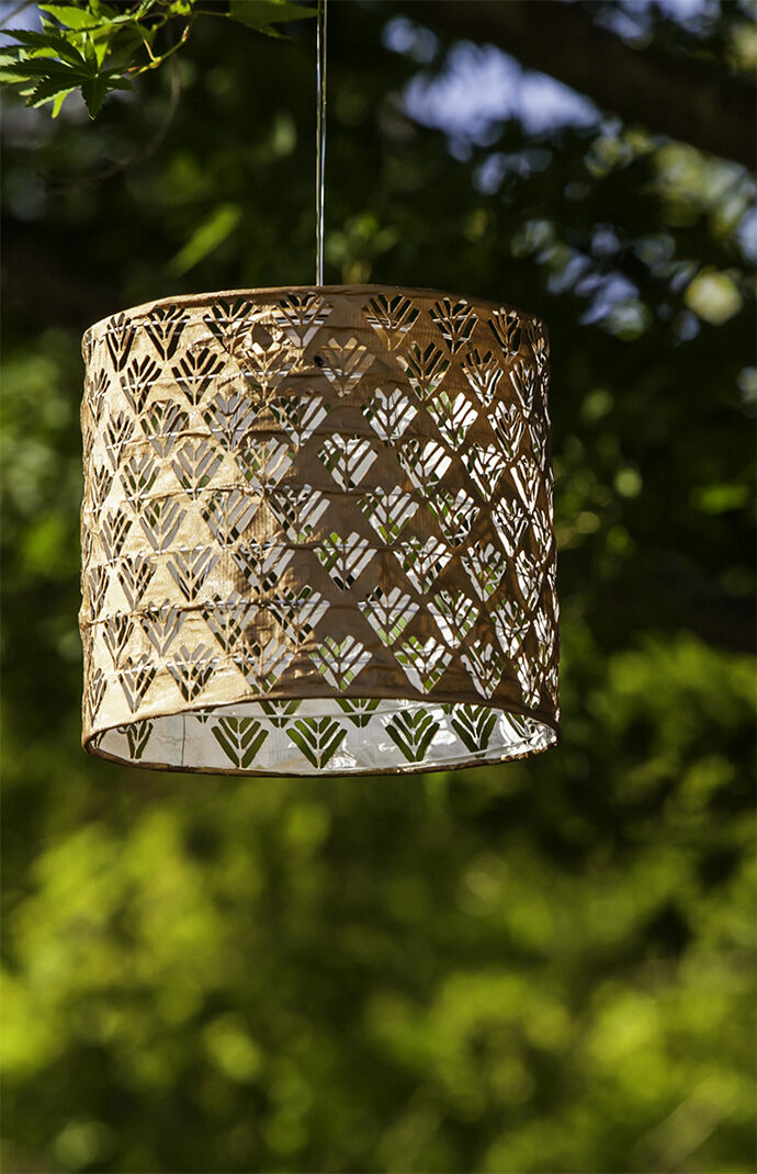 Copper Rust Drum Solar Lantern