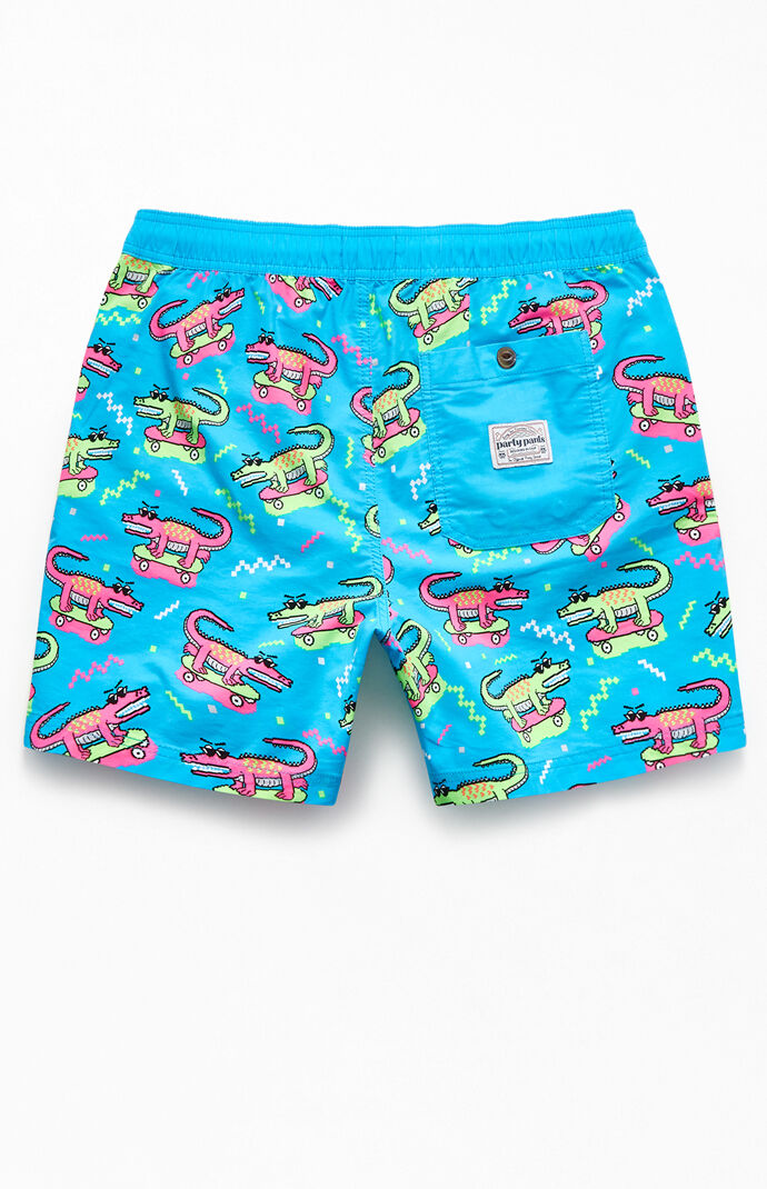 "8 Bit Gator Boy 16"" Swim Trunks"