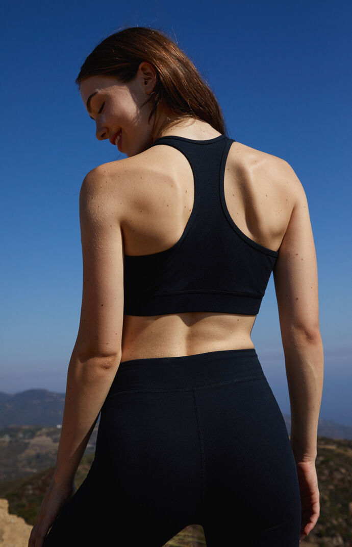 Center Shirred Active Sports Bra