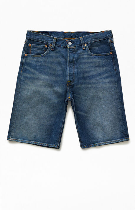 Dark Indigo 501 Hemmed Denim Shorts