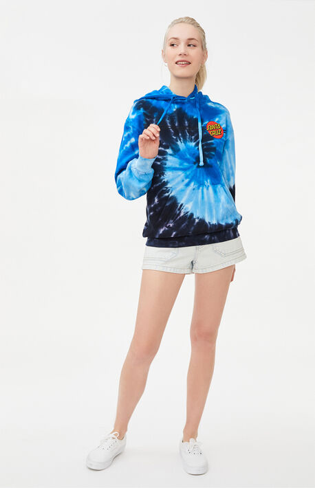 Tie-Dyed Classic Dot Pullover Hoodie