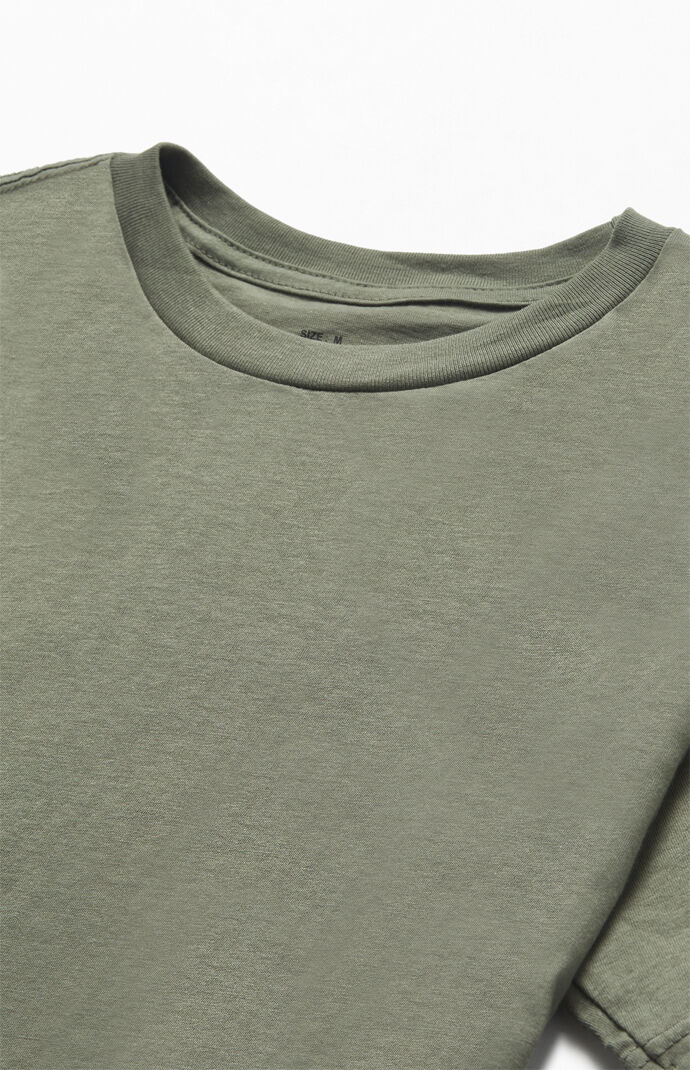 Olive Solid Color T-Shirt