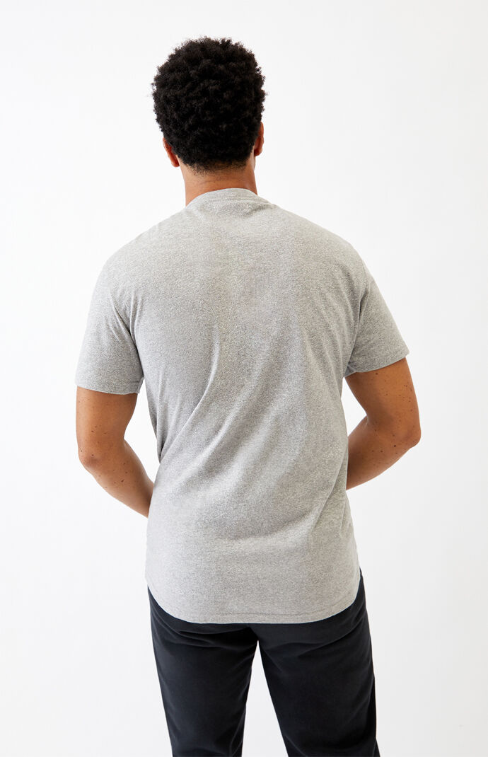 Gray & White Mocktwist T-Shirt