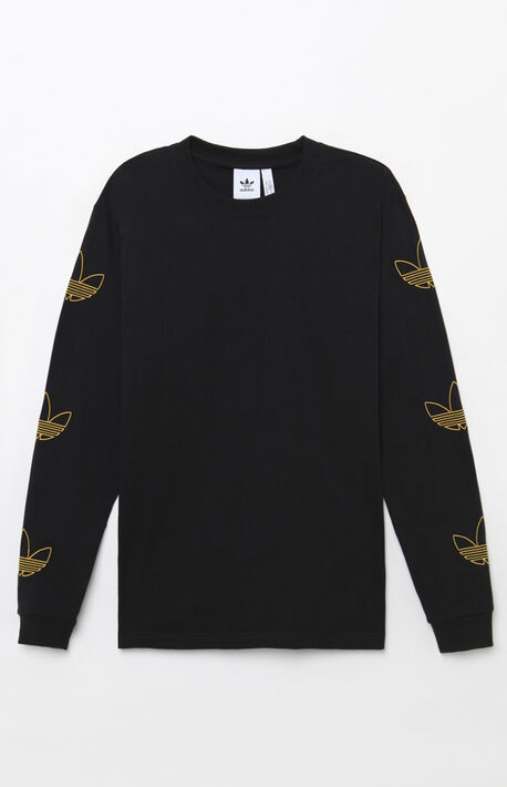 84effd45e9ba6 Trefoil Black Long Sleeve T-Shirt