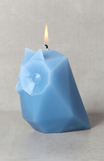 Blue Ugla Owl Candle
