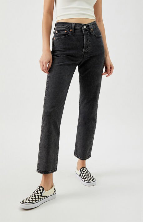 Black Wedgie Straight Pedal-2 Jeans