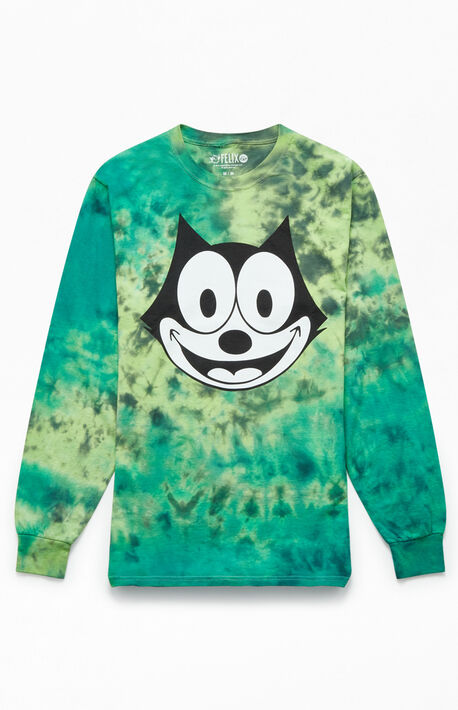 bb0eb5075 Felix The Cat Tie-Dyed Long Sleeve T-Shirt