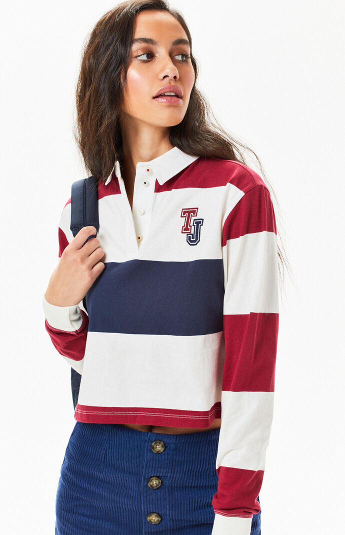 e02198c07861 Tommy Jeans Cropped Rugby Polo T-Shirt | PacSun