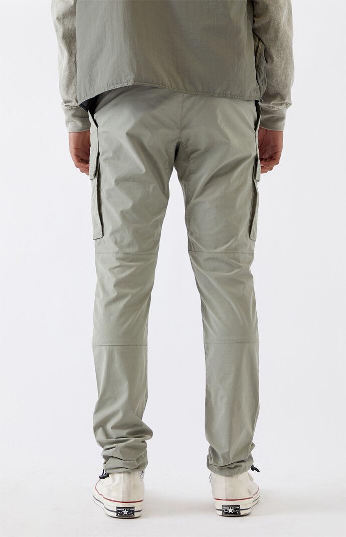 Utility Light Olive Nylon Slim Cargo Pants