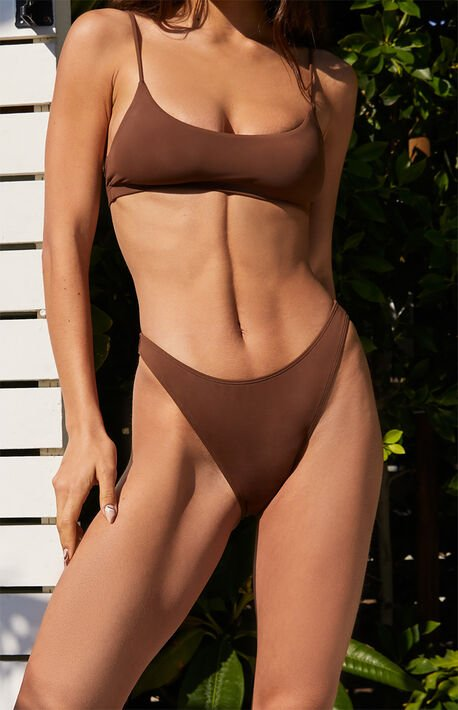 Brown Dixie High Waisted Bikini Bottom