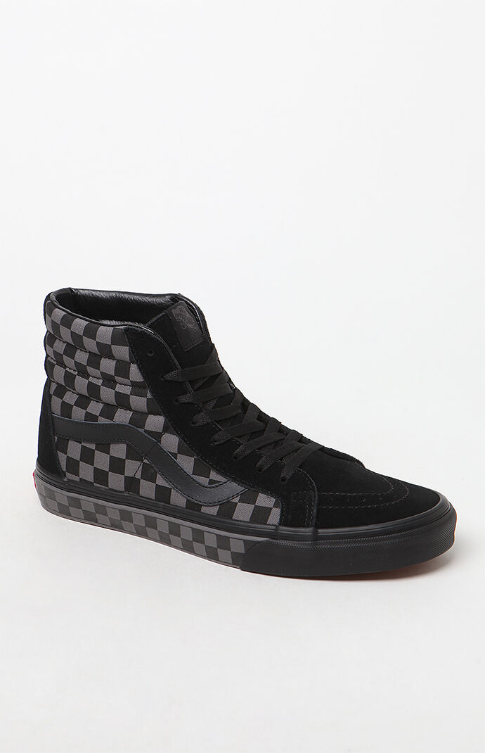 af84c10e8e526d Vans Sk8-Hi Reissue Checkerboard Black and Pewter Shoes at PacSun.com