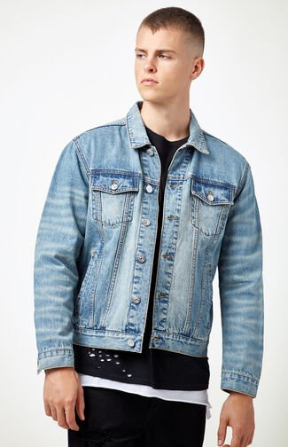 Classic Medium Denim Trucker Jacket