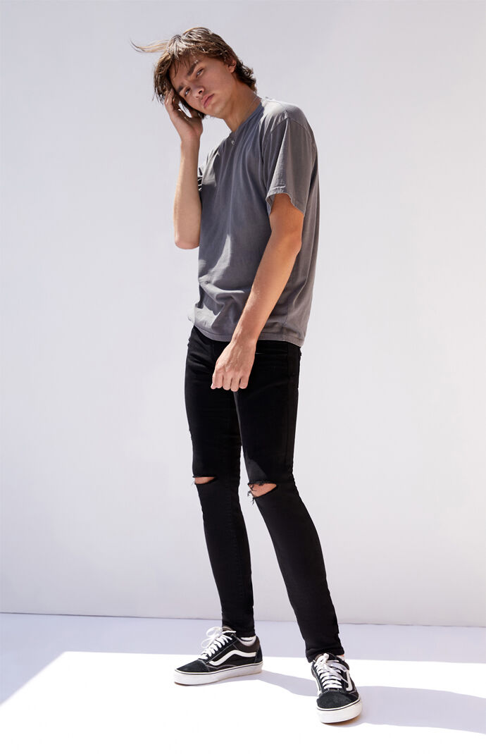 Black Ripped Skinniest Jeans