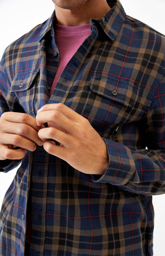 Navy Sycamore Plaid Flannel Shirt