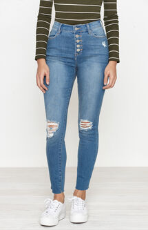 High Rise Ankle Jeggings