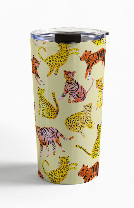 Safari Tigers Leopards Travel Mug