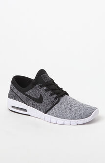 Stefan Janoski Max Knit White & Black Shoes