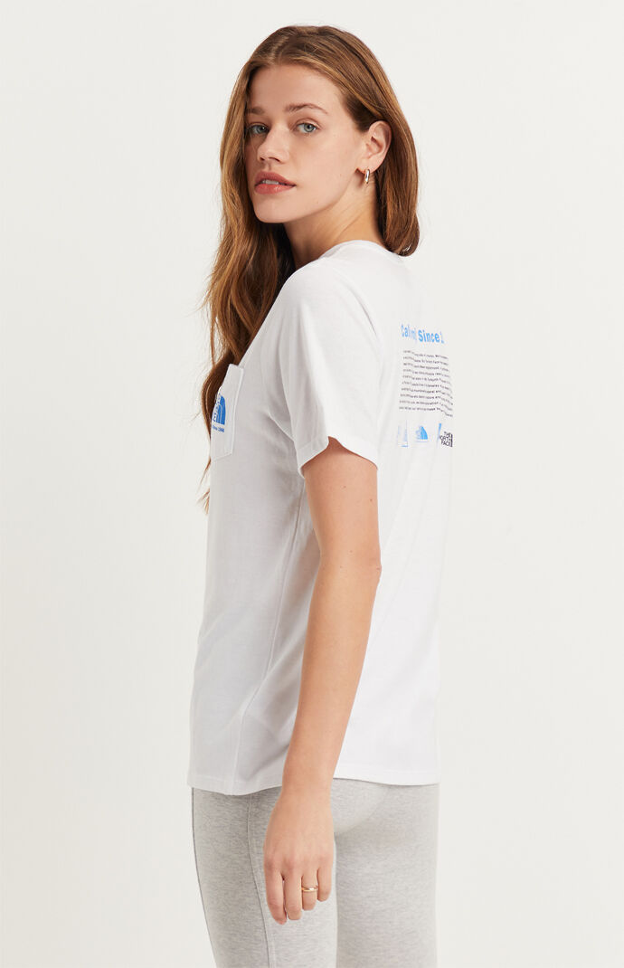 White Tri-Blend Pocket T-Shirt