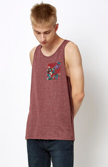Contrast Pocket Tank Top