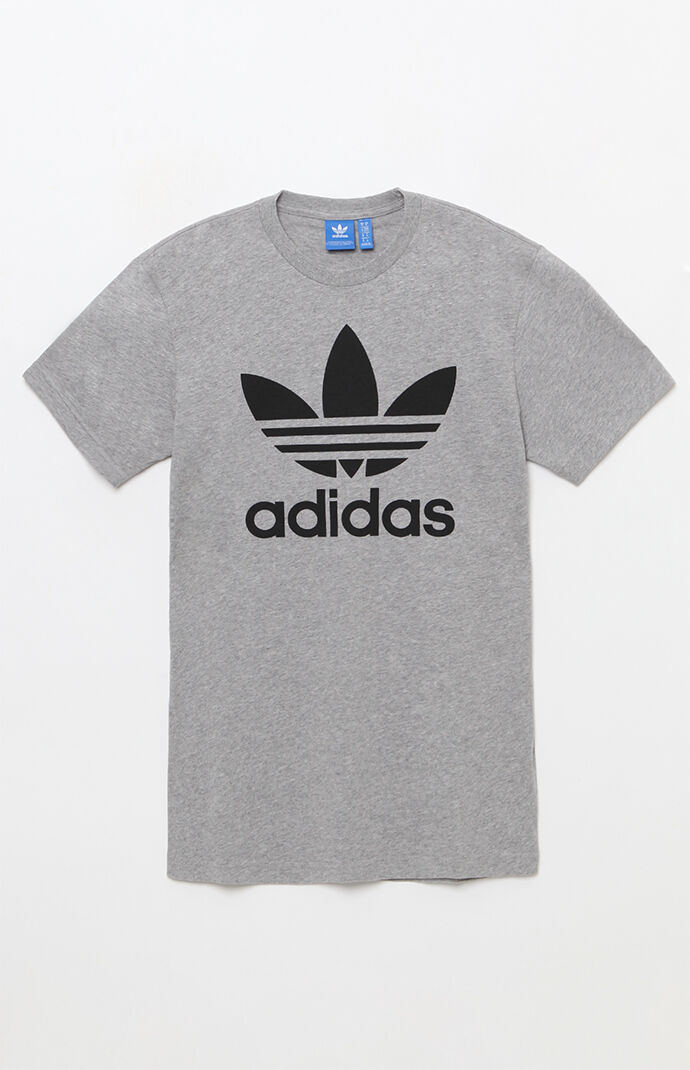 adidas Mens Trefoil Heather Grey T-Shirt 6257745