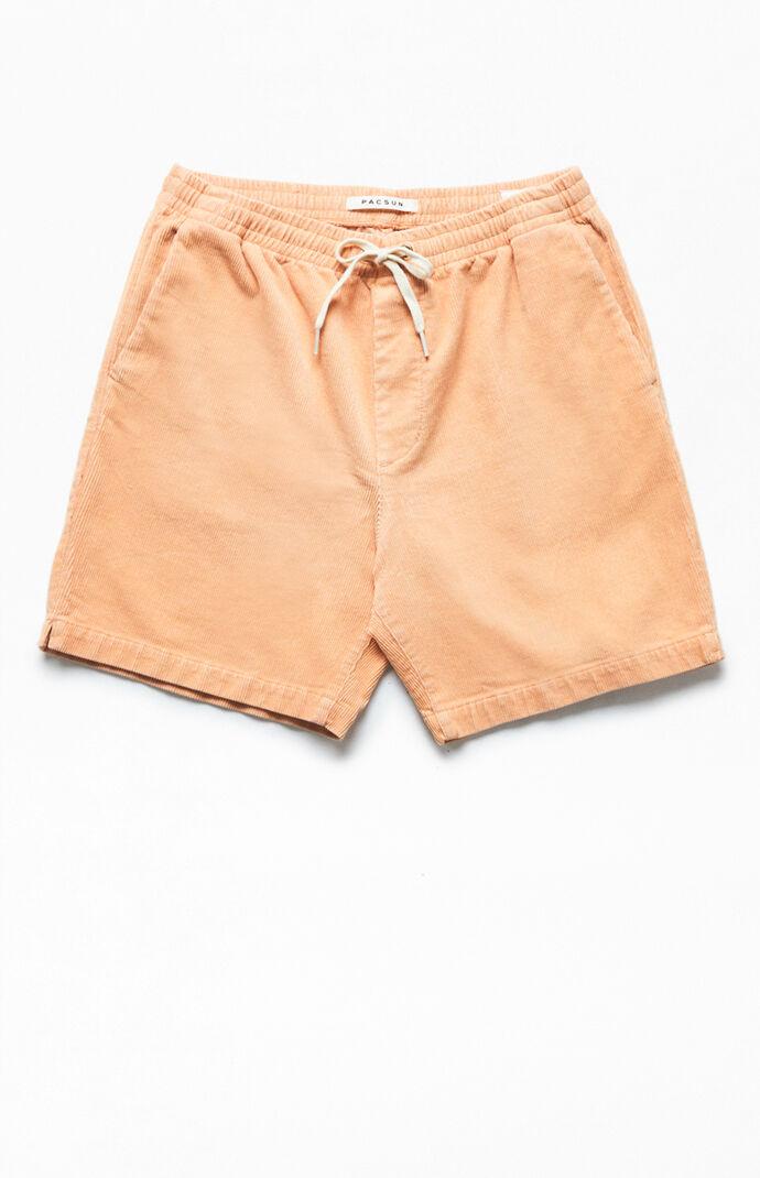 Coral CorduroyVolley Shorts