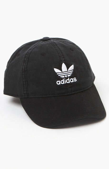 Washed Black Strapback Dad Hat 23de30076c78