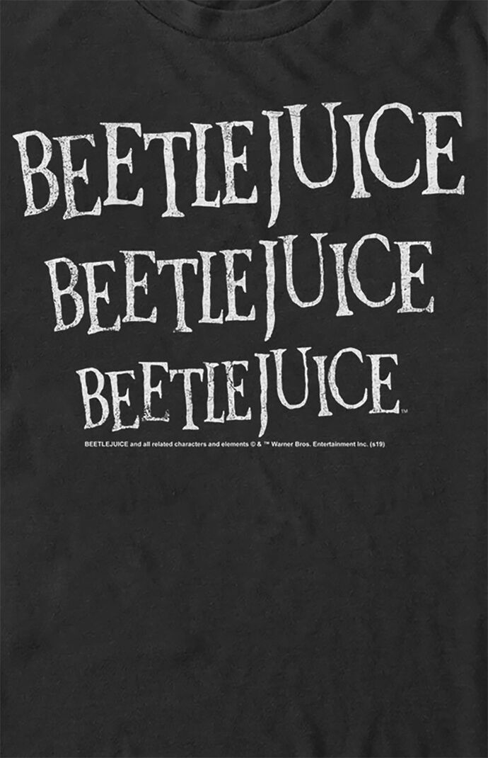 Beetlejuice Repeat Text T-Shirt