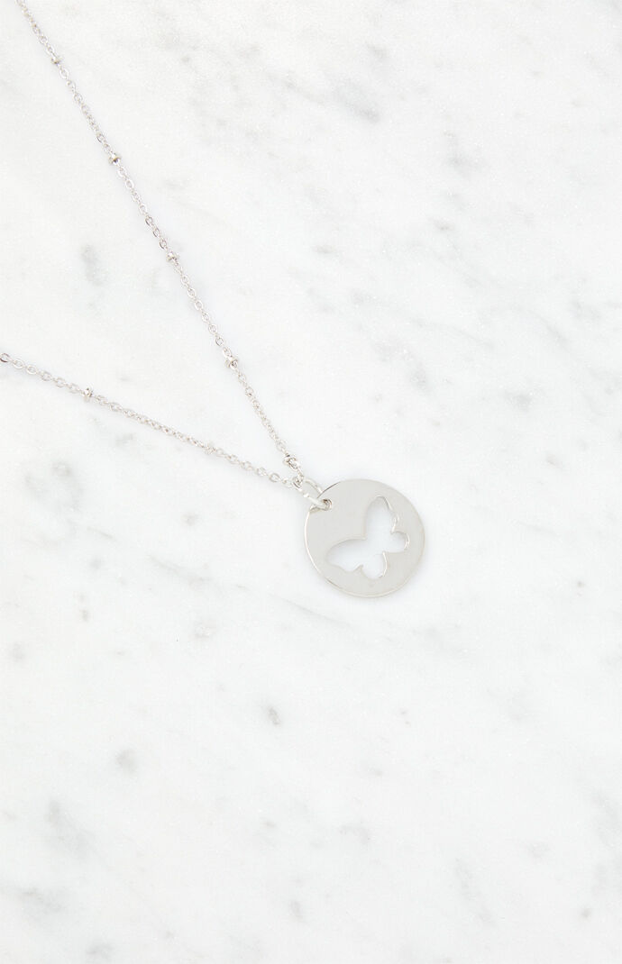Butterfly Disc Necklace