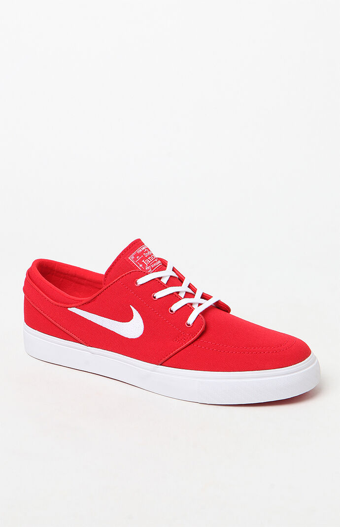 Nike SB Zoom Stefan Janoski Canvas Red and White Shoes at PacSun.com d86fe5df85