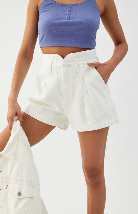 White Mom Clean Sweep Denim Shorts