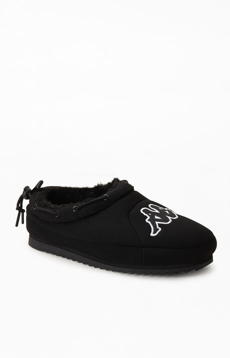 Black Logo Tasin Adjustable Slip-On Shoes
