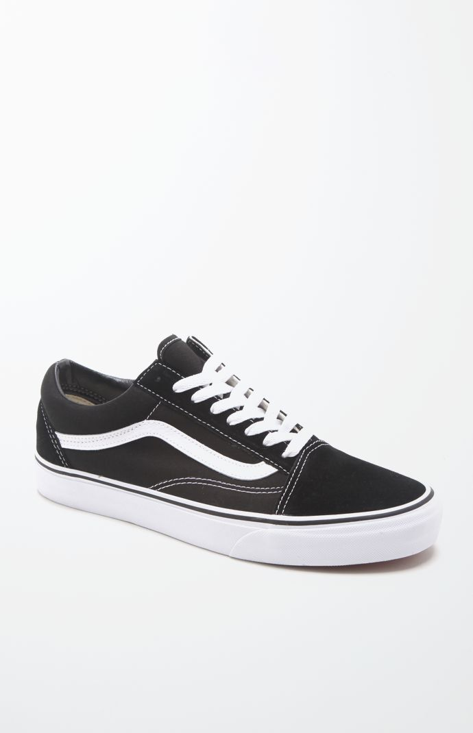 Vans Mens Canvas Old Skool Black & White Shoes - Black/White