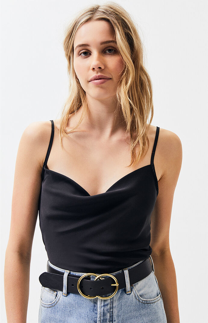 4199550b78bc08 Lottie Moss Cowl Neck Cami Top