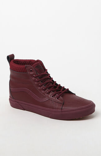 Weatherized Sk8-Hi MTE Burgundy Shoes