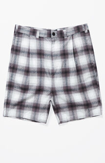 Ombre Plaid Baggy Chino Shorts