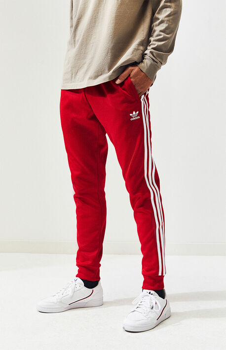 37a3efbe4 Red Superstar Track Pants