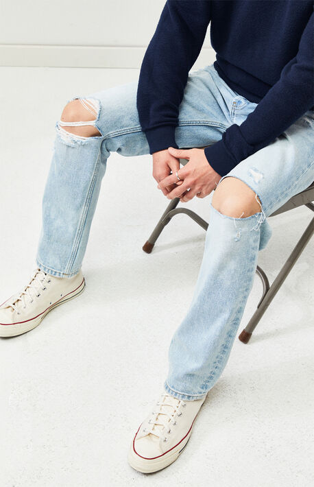 e463c357 Acid Destroy Vintage Loose Jeans