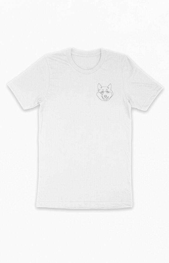 One Line Shiba Inu T-Shirt