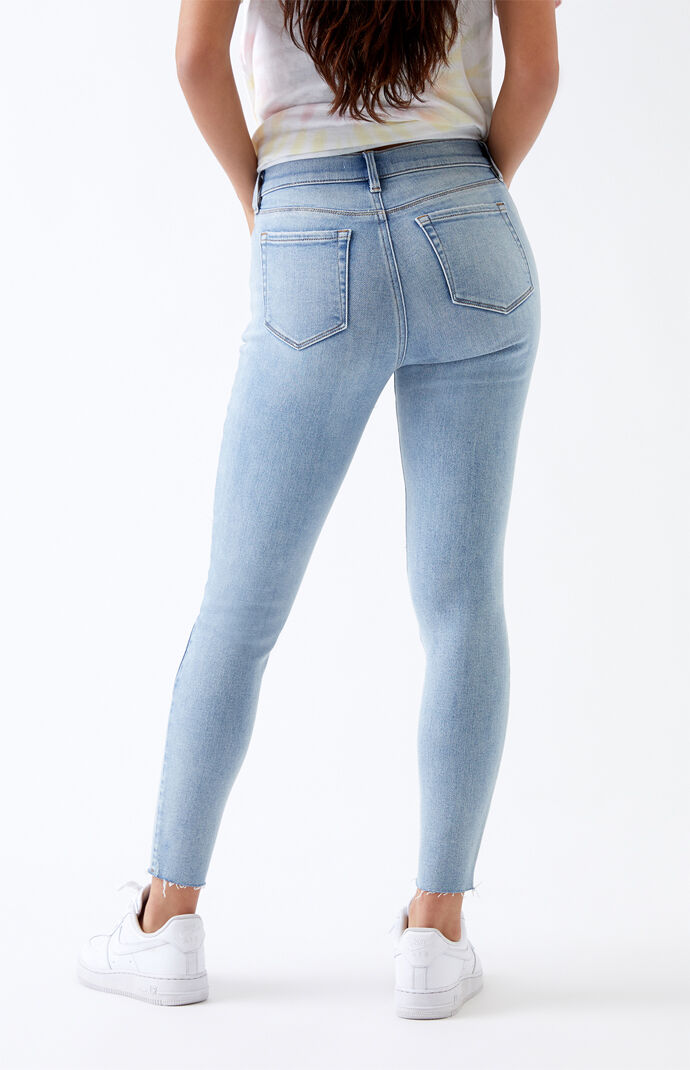Light Ripped High Waisted Jeggings