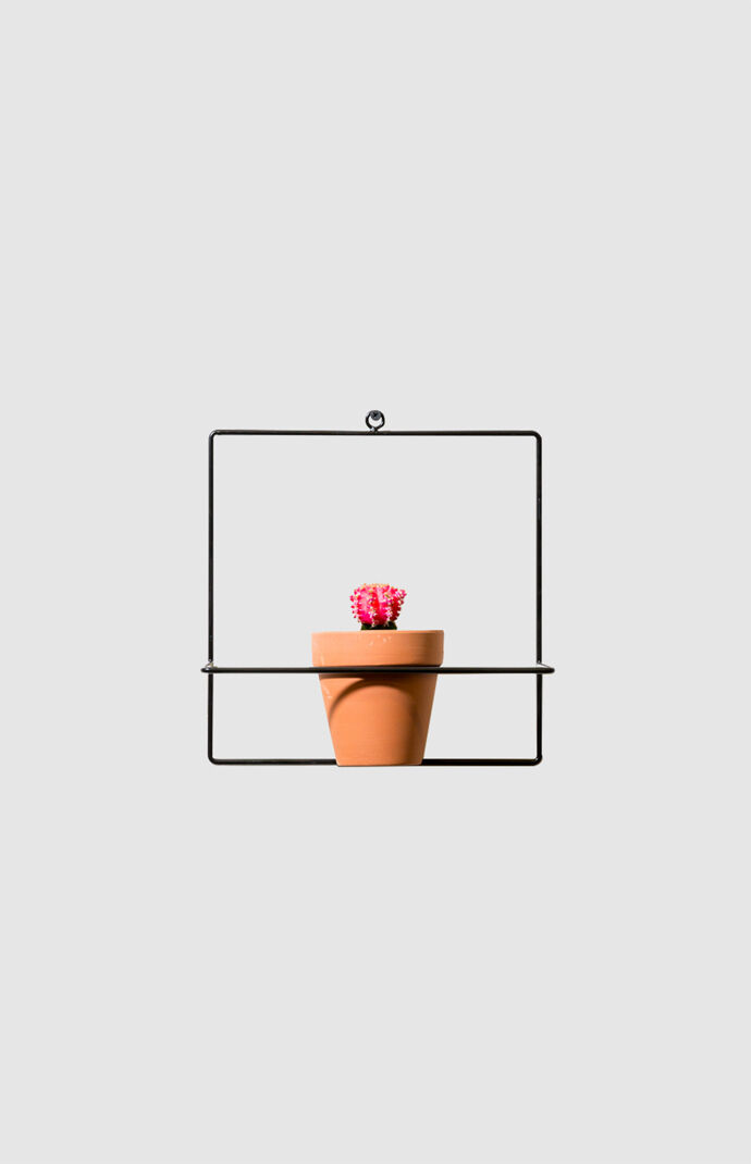 Black Square Wall Planter