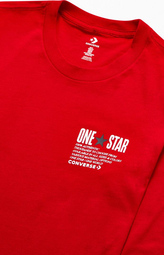 One Star Wordmark Long Sleeve T-Shirt
