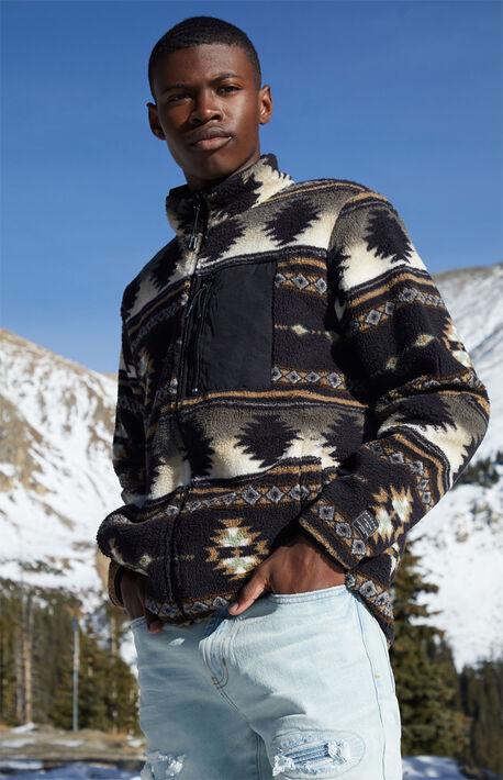 Neutral Commander Sherpa Zip-Up Jacket